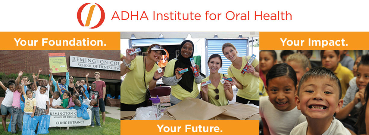 ADHA Institute for Oral Health promotional banner